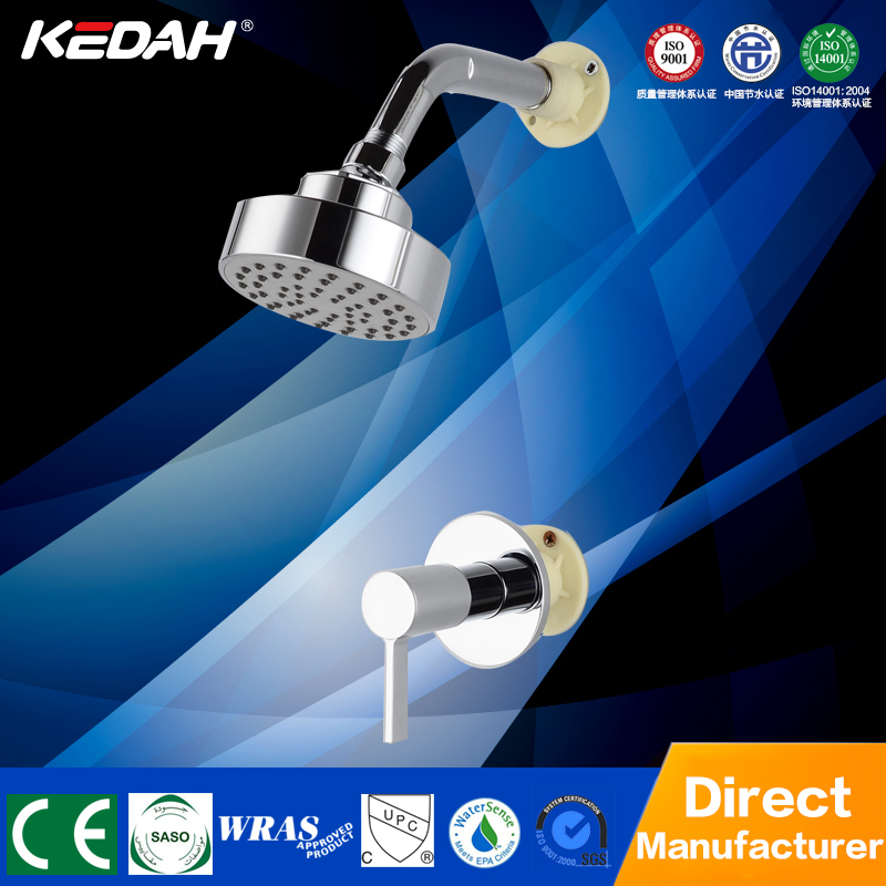 New modern style bathroom hidden bath shower set rainfall chrome plated bathroom rain shower set