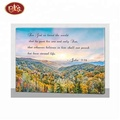 beautiful spring scenery canvas painting design with lights for wall decoration