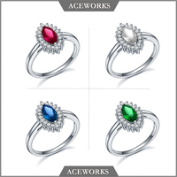 2016 Top Fashion New Brand Ring Jewelry Natural Zircon Stone 925 sterling silver ring jewellery