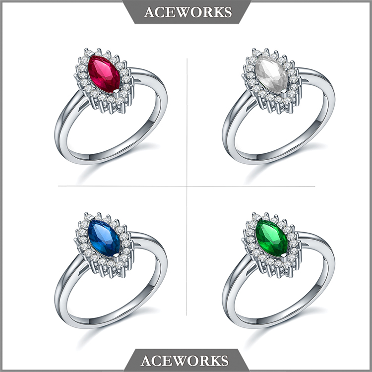 2017 Top Fashion New Zircon Stone 925 sterling silver ring jewellery