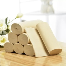 Napkin sanitary bamboo pulp toilet tissue coreless paper rolls printed reels