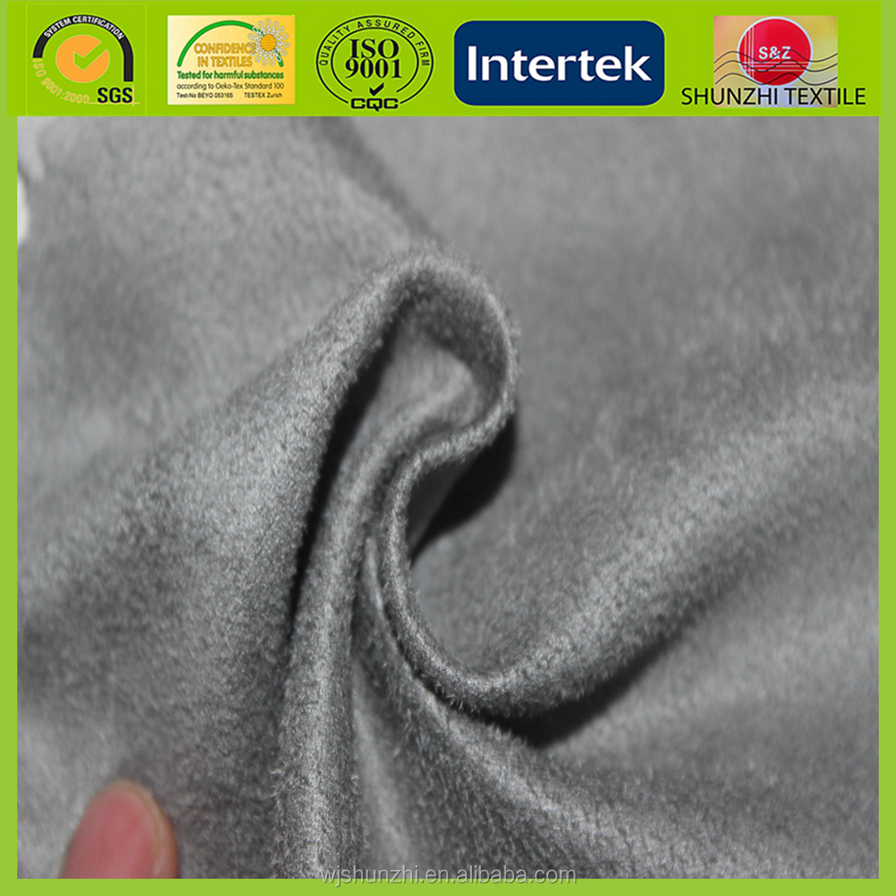 new Polyester rayon blended synthetic suede washed fabric for sofa
