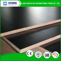Film faced plywood and laminated particle board