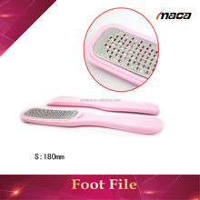 High Quality Foot File Stock Stainless Steel Foot File Pedicure Rasp With Plastic Handle