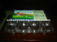 Hot sale High quality Transparent Plastic Egg Tray for 12pcs eggs packaging