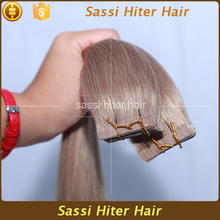 High feedback top quality pre remi human taped hair extensions in light blonde