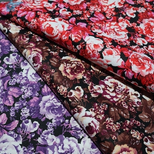 floral pattern 40s printed cotton stretch cheap printed satin fabric