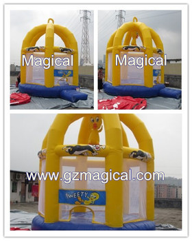 Cage Tweety Bird Inflatable Bouncy Castle for Outdoor Fun