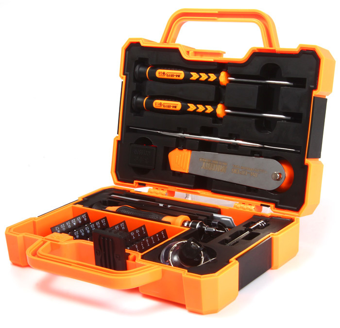 JAKEMY 45 in 1 Professional Electronic Precision Screwdriver Set Hand Tool Box Set Opening Tools for iPhone PC Repair Tools <strong>Kit</strong>