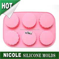 Nicole lego round jelly silicone cookie candy mold