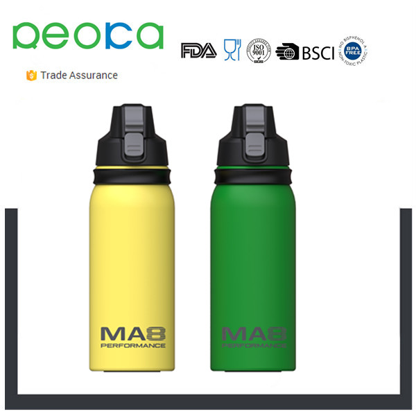 drinking stainless steel sport water bottle keep hot or cold for more than 24 hours