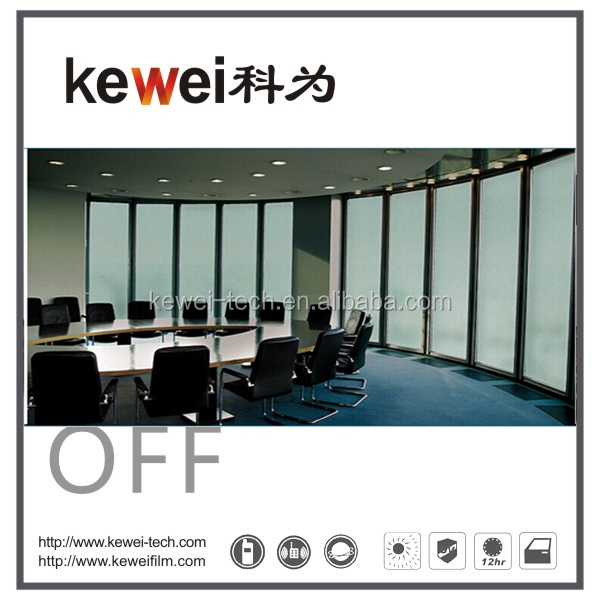 Kewei High transparent PDLC Smart film, Self-adhesive smart film,electric tint film