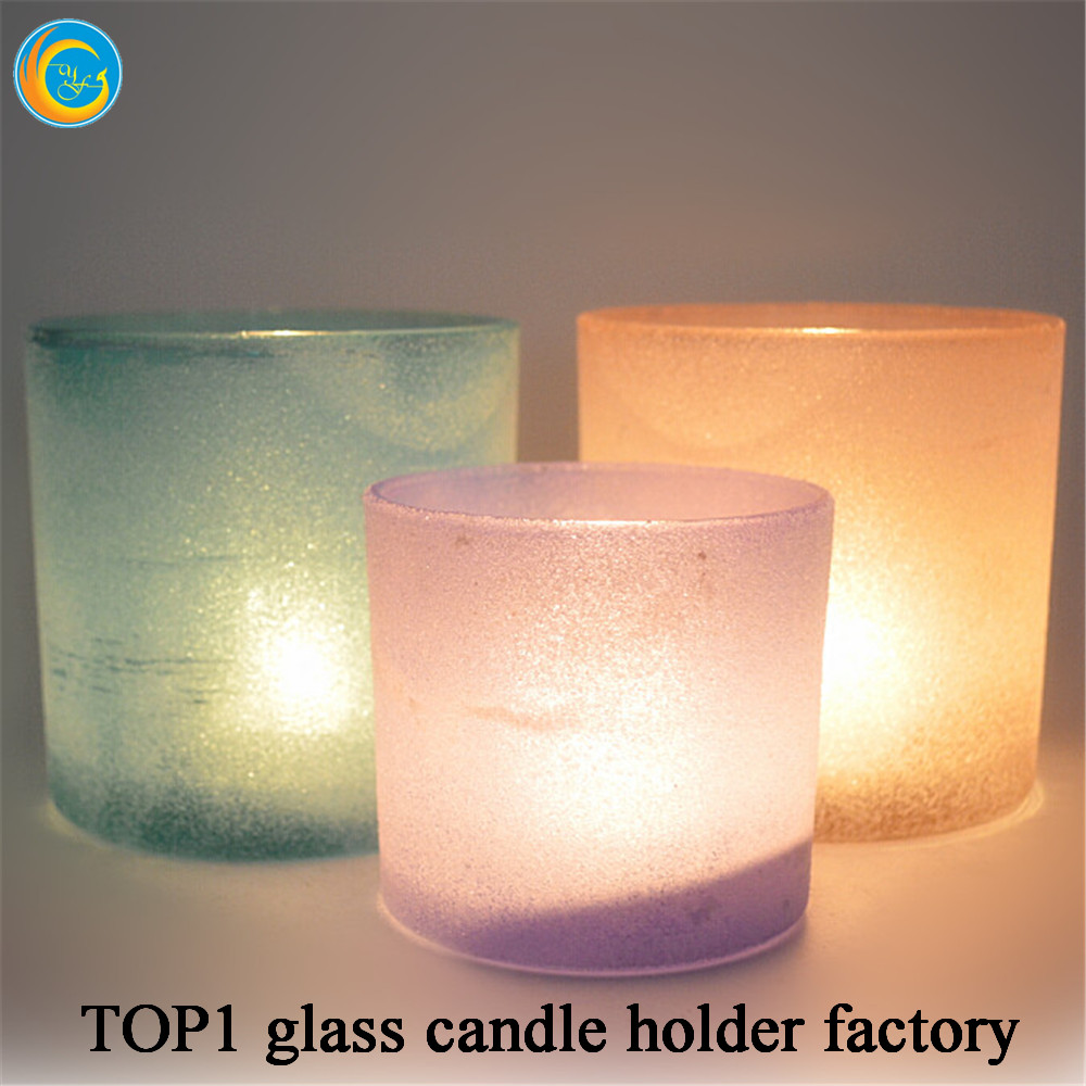 Glass candle holder for votive