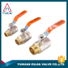 "Full Brass Ball Valve and Brass Gas Valve 1/2"" Threaded Brass Ball Valve 600PSI Water Oil Gas Double Thread Full Port Save"
