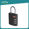 Toprank Popular Style Zinc Alloy Travel Luggage TSA Approved 3 Dial Combination Padlock With Various Colors