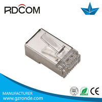 Shielded CAT5/CAT6 stp connector RG45 Good Quality