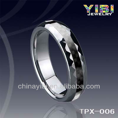 Carbon Fiber Finger Ring Cheap Wholesale Men Tungsten Ring