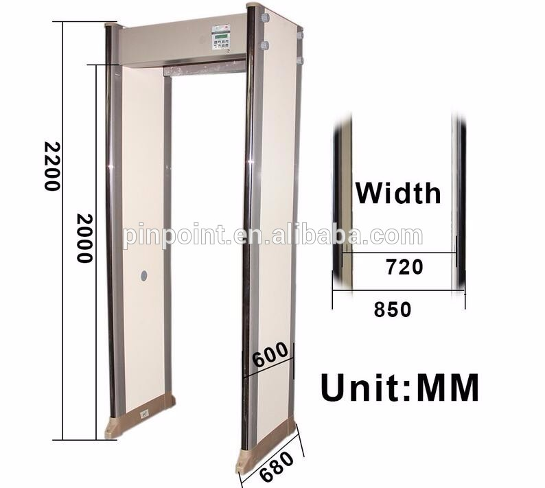 2017 Newest Model protable Walk Through Metal Door PD-6500