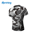 Outdoor running sports fitness camouflage T-shirt short-sleeved male style camouflage top speed dry clothes