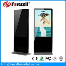 55 inch shopping mall lcd touch screen advertising tv display floor stand
