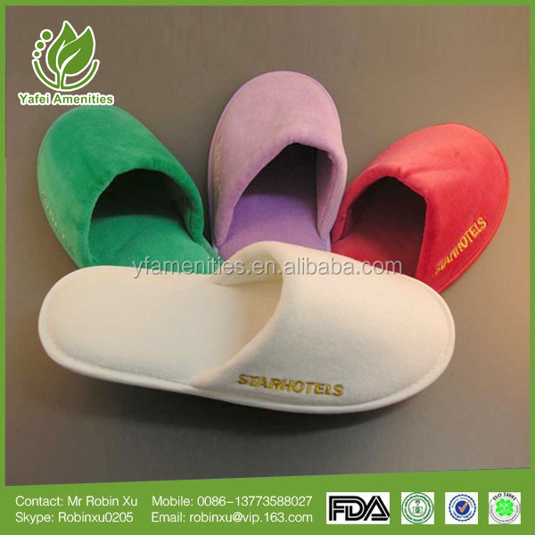 Factory selling high quality cheap disposable hotel slipper/washable hotel slipper