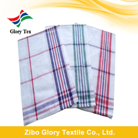 China wholesale Yarn Dyed checked or striped cotton kitchen tea towels