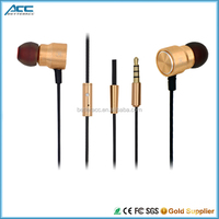 Hot High Stereo Metal Earphone for iphone, Earphone with mic for latptop