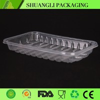 clear plastic fruit and vegetable display trays