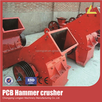 Glass crusher machine for sale, glass hammer crusher, large scale glass crushing plant
