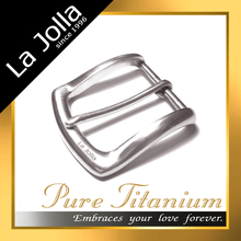 Lightweight pure titanium custom personalize belt buckles for both women or men