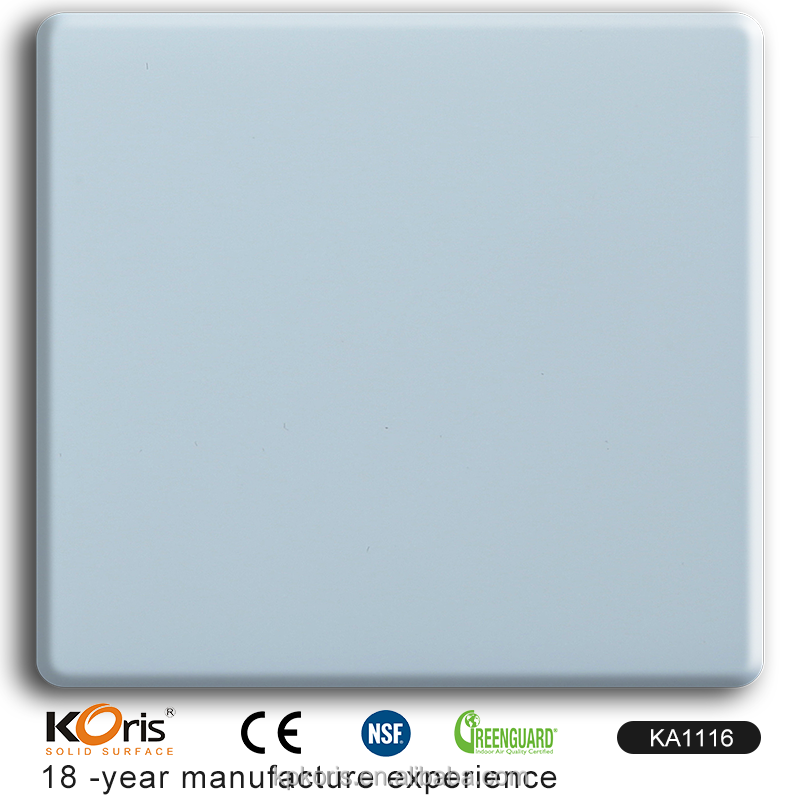KA1116 Pure and Bright White Magic Stone Solid Surface for Wall Panel and Vanity Top