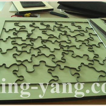 "Steel rule jigsaw puzzle die 5""x7""-40pcs Special DESIGN"
