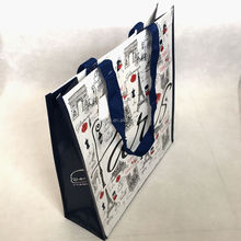 OEM colorful printed custom delivery plastic retail folding non woven shopping bag