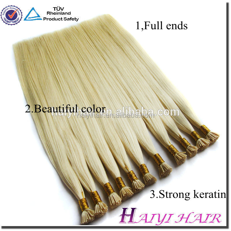 Hair factory full cuticle tangle free trade assurance quality easy remove pre bonded nano ring hair extension