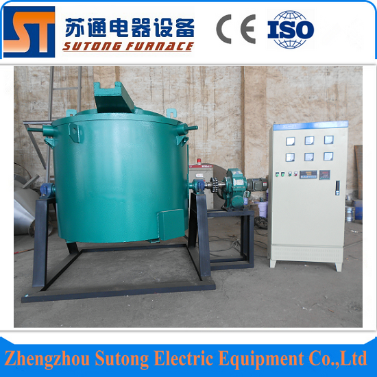 Factory price 200kg 1200C copper electric crucible furnace for sale