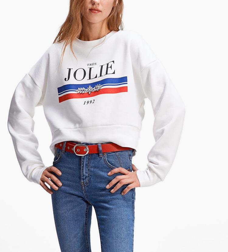 3227a36688676b OEM Wholesale High Quality Custom Plain Sweaters Long Sleeve Women Printed  Crop Top Hoodies Sweatshirts