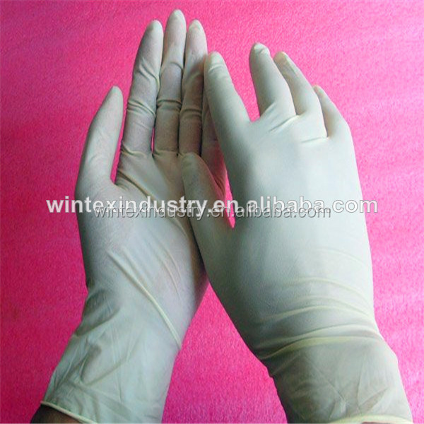 Powdered and powder free sterile long latex surgical gloves with CE ISO