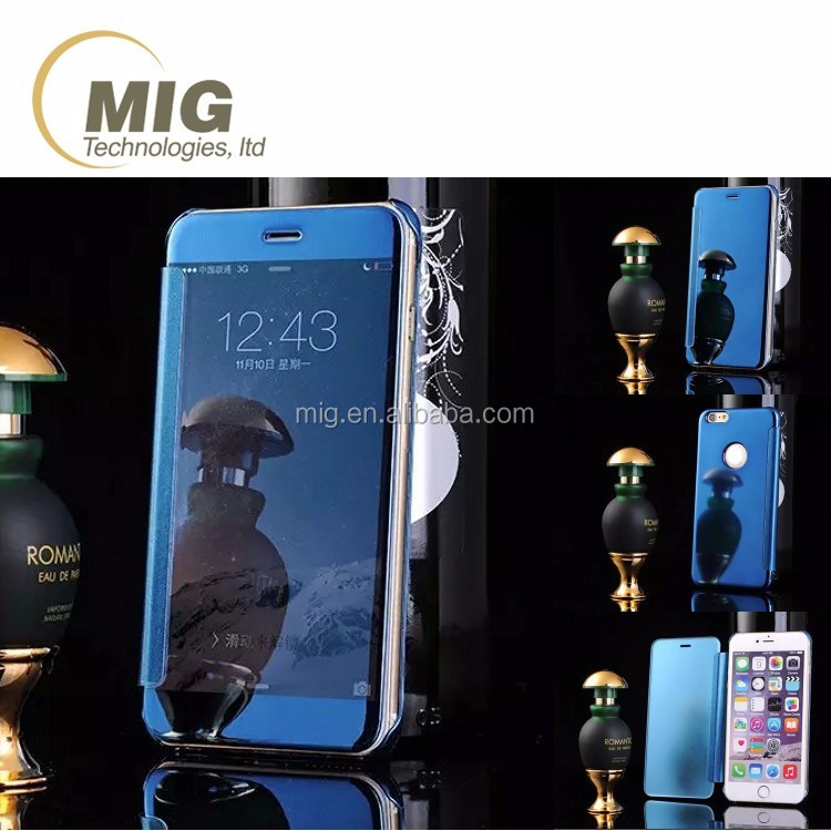 New Mirror Smart View Flip Hard Back Phone Case Cover For Samsung Galaxy S6 Edge Plus