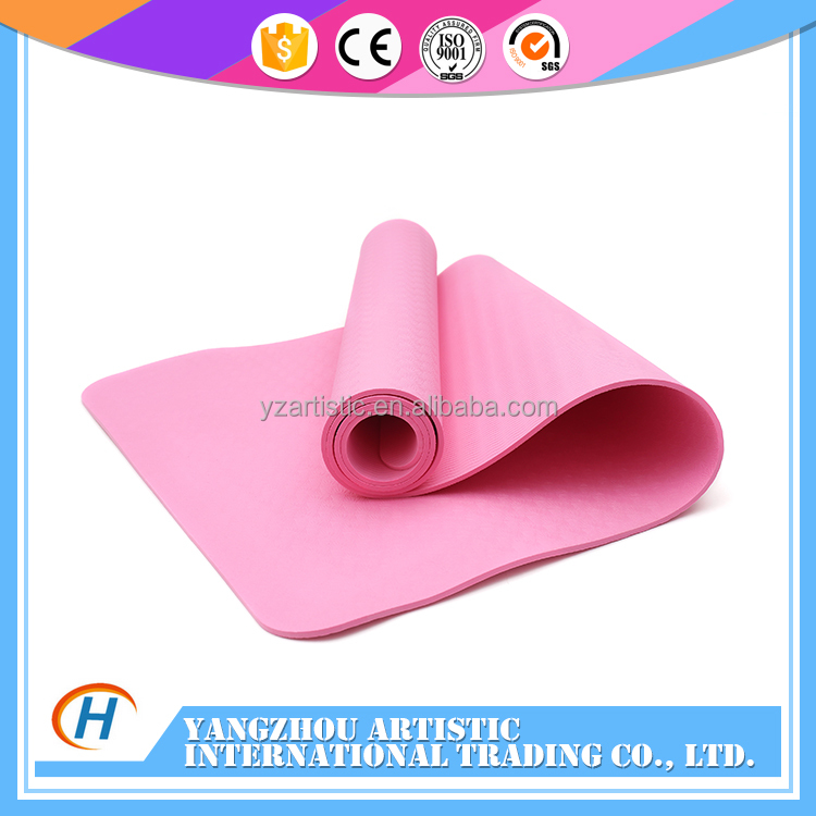 PU Leather photo yoga mat tpe with carry bag