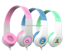 85 dB Protect children ear cartoon headphones for kids with certification