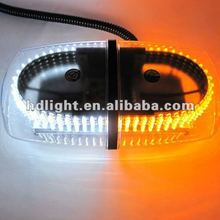 Dual color Amber / White Warning Emergency Truck Car 240-LED Snow Plow Safety Strobe Light W/ Magnetic Base