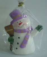 lovely snowman candle