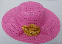 Wholesale Lady Summer Floppy wide brimmed Paper Straw Hat