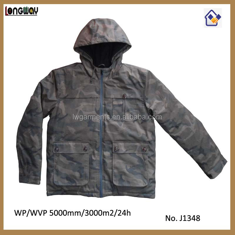 2015 Mens Camo Military Winter Jacket Mens Super warm Winter Jackets