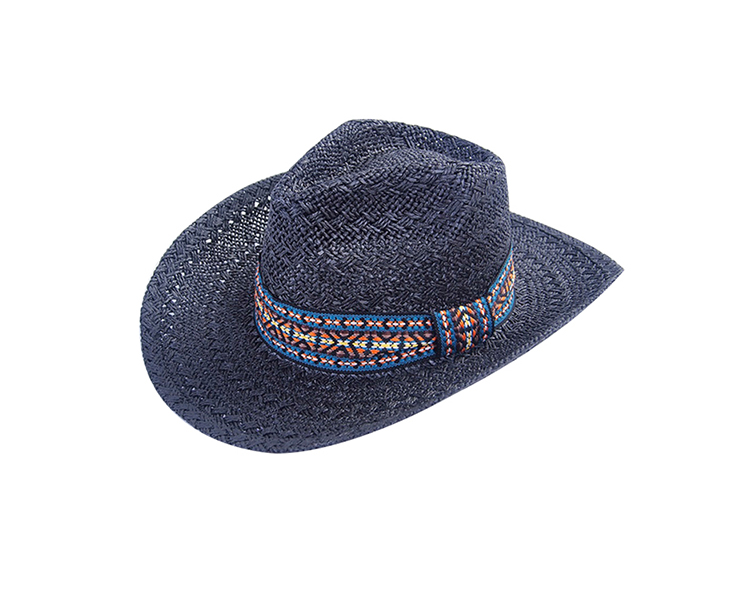 raffia straw with elastic weatband quality character cowboy hats