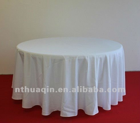 100% MJS spun filament 12S*300D 6.4oz spun polyester round table cloth for commercial laundry center resturant table linen