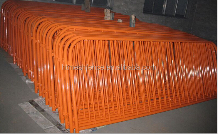 1.1m coated steel crush barrier/Pedestrian Crowd Control Barrier/ steel barricade/ steel barrier