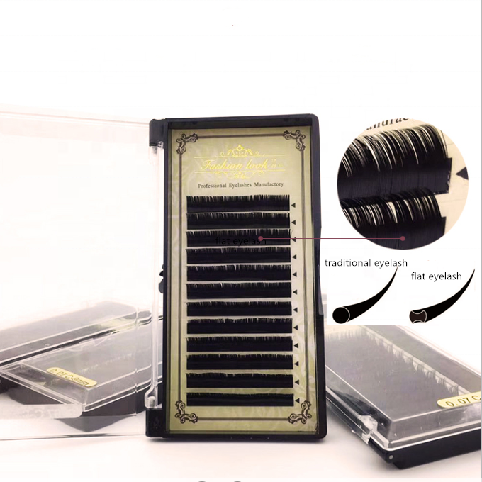 Fashionlook handmade free sample ellipse <strong>flat</strong> eyelash extensions ellipse eyelash extension