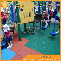 Easy installation safe anti-static rubber kids play area floor for playground