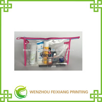 Transparent PVC Cosmetic Tote Bag with Zipper
